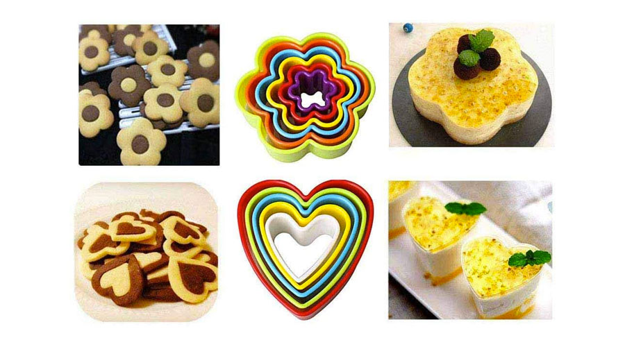 Biscotti di varie forme in plastica